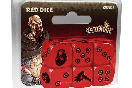 Zombicide Black Plague : Set de dés rouges